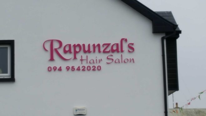 raised lettering signs